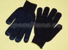 Перчатки 6-и нитка (точка)-черные 10кл